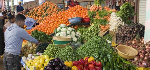 souk, légumes, fruit, Maroc